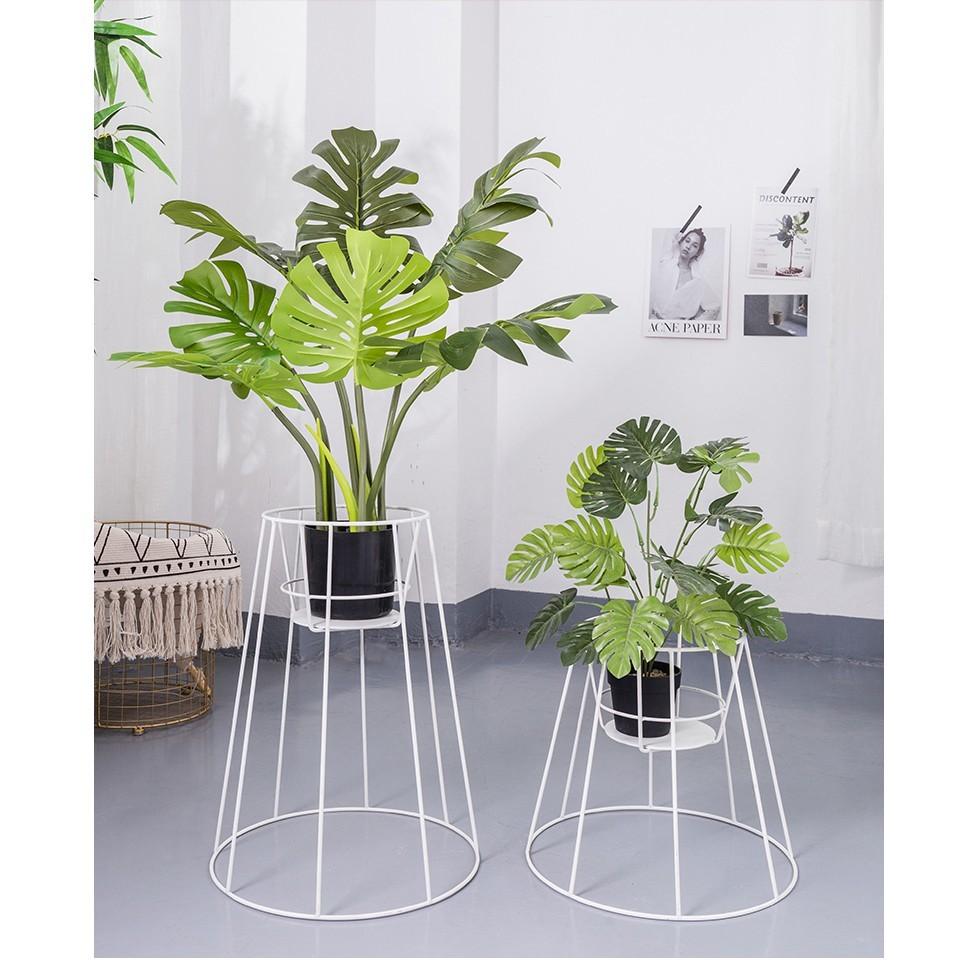 創意簡約現代鐵藝置物架裝飾品擺件花架花籃奶茶店服裝店飯店擺設