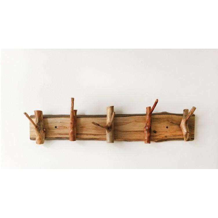 木質實木原木現代簡約日式家居原生態墻壁樹枝衣帽架掛鉤 - 樹枝款式70cm