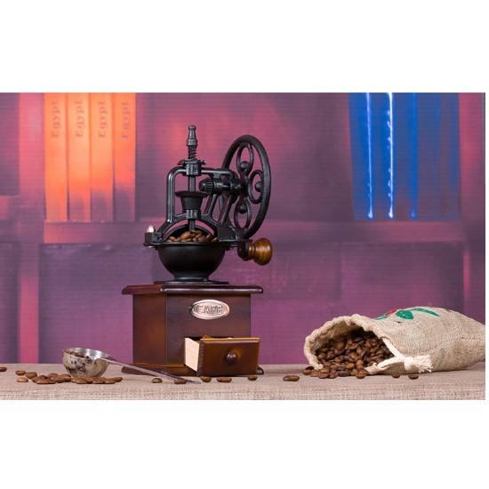 一件免運手搖磨豆機 咖啡豆研磨機家用磨粉機小型咖啡機手動複古大輪
