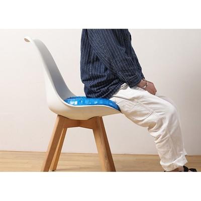 夏天清涼凝膠辦公室雞蛋坐墊汽車座墊椅子透氣軟墊車用冰墊涼墊 - 二代雙層款+凝膠護腰靠