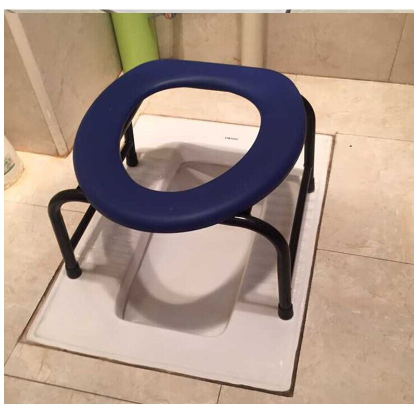 孕婦坐便椅加固老年人坐便凳防滑病人移動馬桶加厚坐便器洗澡廁椅 - 38.cm加固型不銹鋼