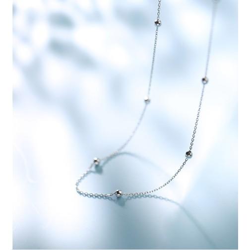 免運銀致s925銀頸鏈女短款項鏈小衆鎖骨鏈網紅頸帶非純銀簡約脖子飾品 - 銀頸鏈s925銀含銀量92