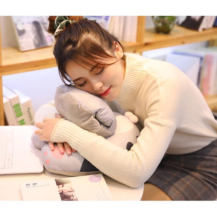 午睡枕抱辦公室午休枕頭兒童趴趴枕趴睡枕頭學生教室趴著睡覺神器 - 有拉鏈多功能35*35*23cm