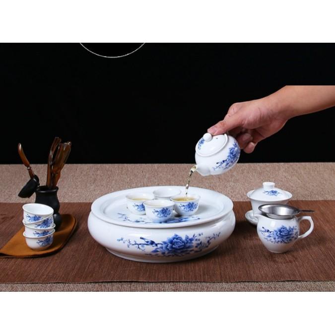 一件免運茶具套裝潮汕功夫茶具小型泡茶家用白瓷茶壺茶杯現代簡約陶瓷茶盤