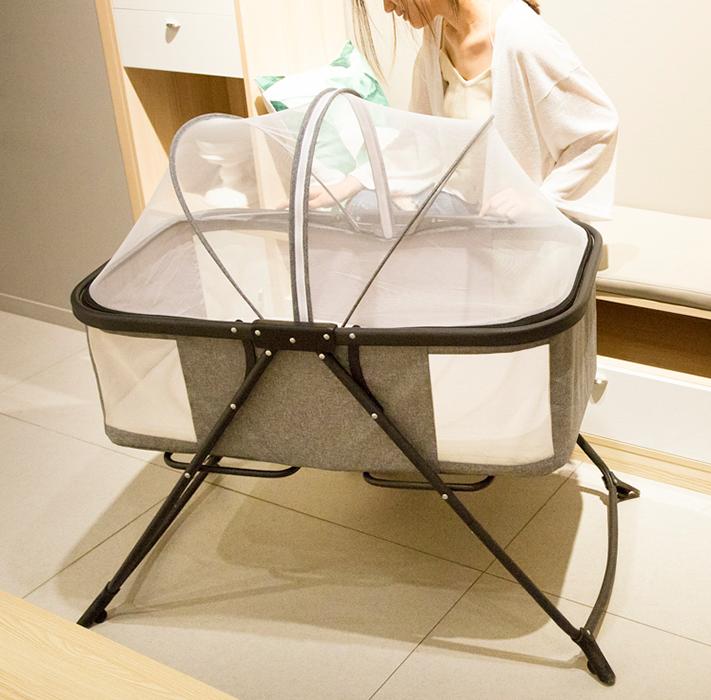 嬰兒床 搖籃 便攜式 可折疊 三色選擇