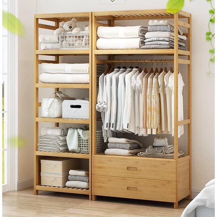 星洋家居 儲物櫃 收納簡易衣櫃 組裝櫃子 置物櫃 自由組合組裝 多功能 雙人衣櫥 衣架 衣帽架 收納