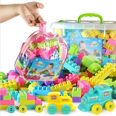 一件免運 兒童顆粒塑膠益智拼裝積木1-2幼兒園7-8-10男女孩寶寶玩具3-6周歲 百變積木創意拼塔