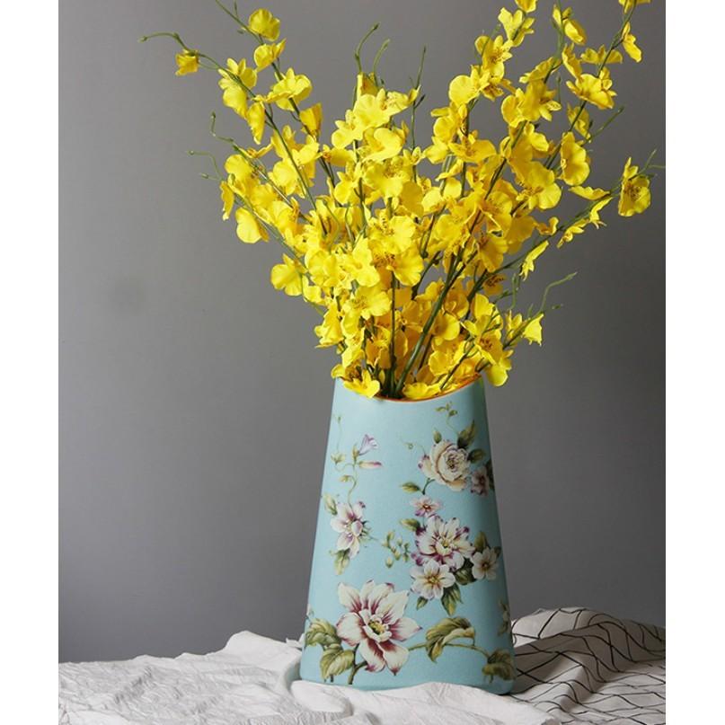 現代簡約花瓶擺件客廳插花粉彩陶瓷工藝品家居創意擺設酒櫃裝飾品