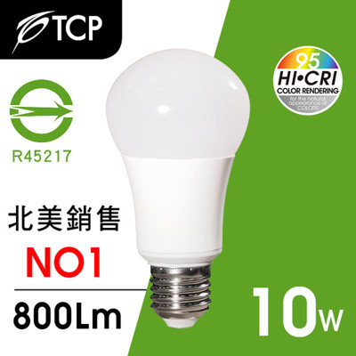 TCP RA95 LED燈泡10W白光 (6.8折)
