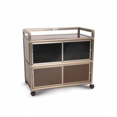 as-黑桃木3.0尺鋁合金紗門收納櫃-88.5x50.8x83.6cm (10折)