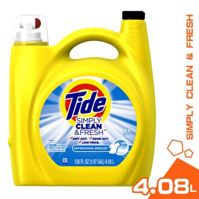 美國 Tide 汰漬 濃縮洗衣精 清新微風 4.08L (5折)