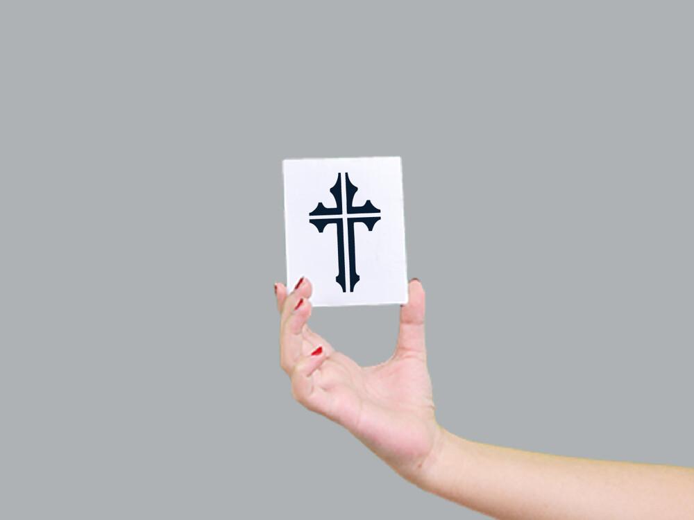 形紋身貼膜神聖十字架175