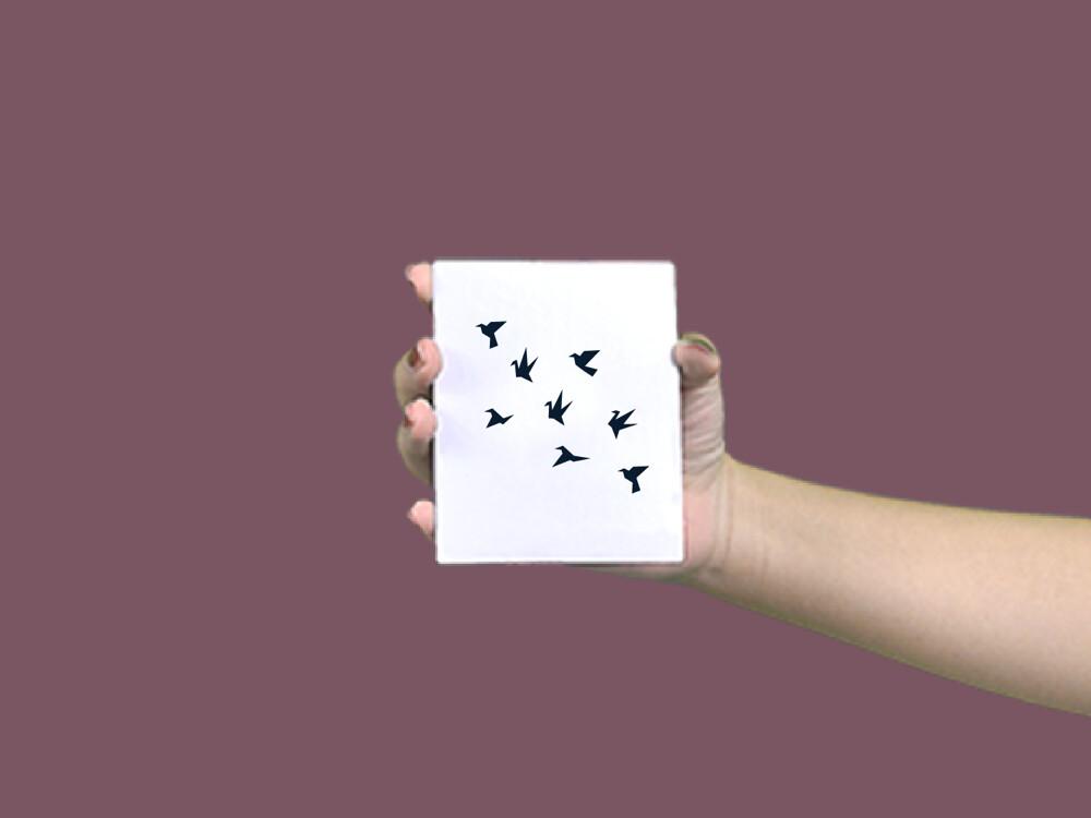 形紋身貼膜幾何飛鳥40