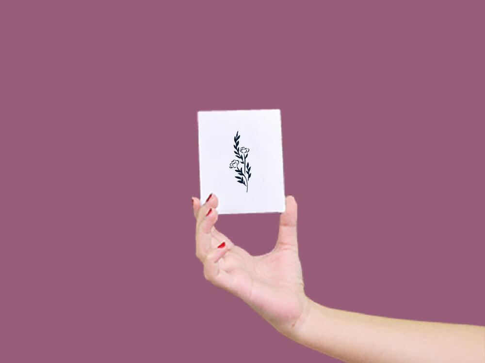 形紋身貼膜獨善玫瑰15