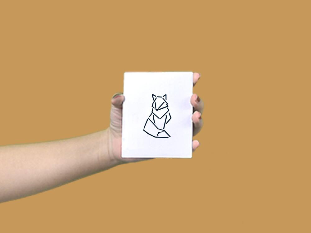 形紋身貼膜幾何狐狸28