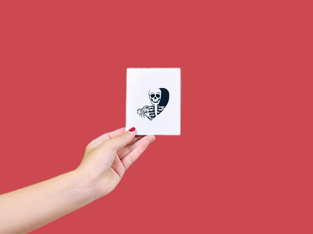 形紋身貼膜開心骷髏126