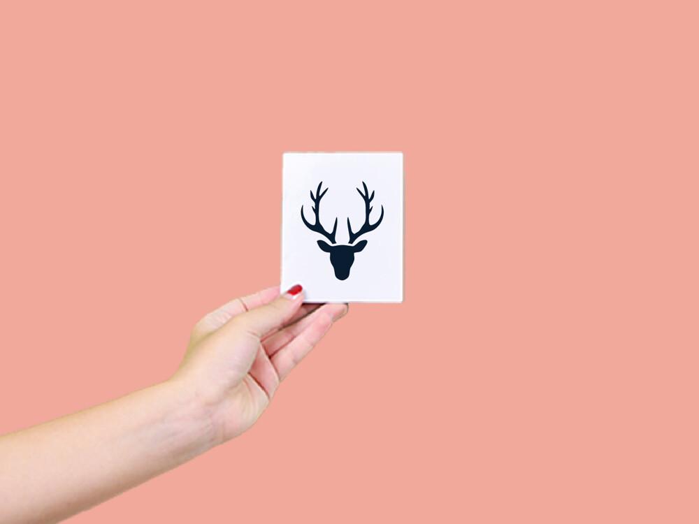 形紋身貼膜鹿頭101