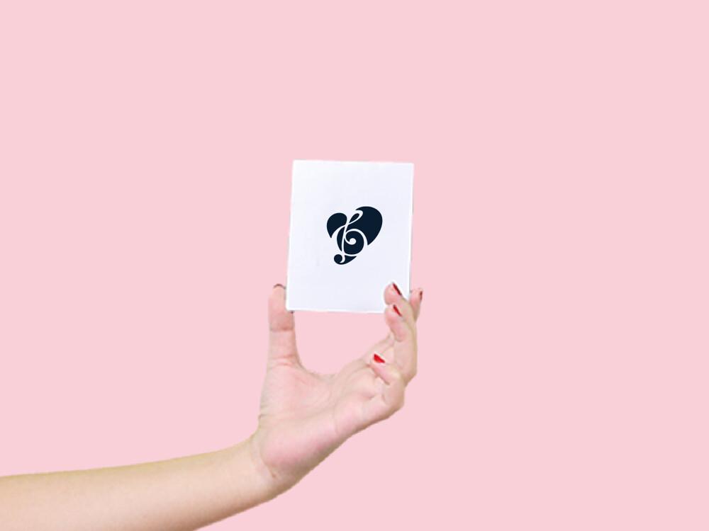 形紋身貼膜愛戀音符34