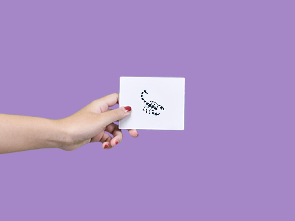 形紋身貼膜小蠍子134