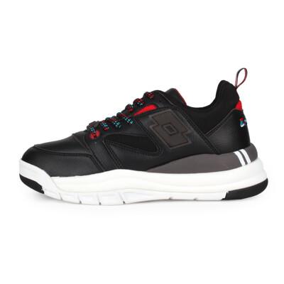 LOTTO 女復古慢跑鞋-老爹鞋 經典 附鞋帶 黑灰紅藍 (8.4折)