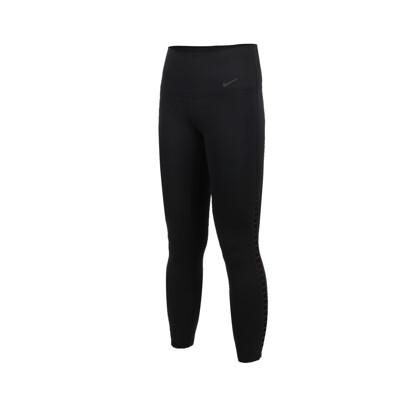 NIKE 女運動七分褲-路跑 慢跑 健身 緊身長褲 黑 (6.2折)