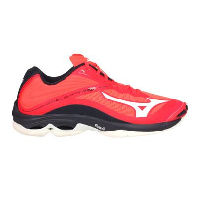 MIZUNO WAVE LIGHTNING Z6 男排球鞋-訓練 美津濃 橘紅黑白 (8.4折)