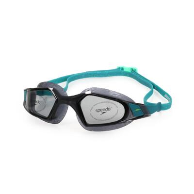 SPEEDO AQUAPULSE PRO 成人運動泳鏡-競技 訓練 游泳 海邊 蛙鏡 黑湖水藍 (9折)