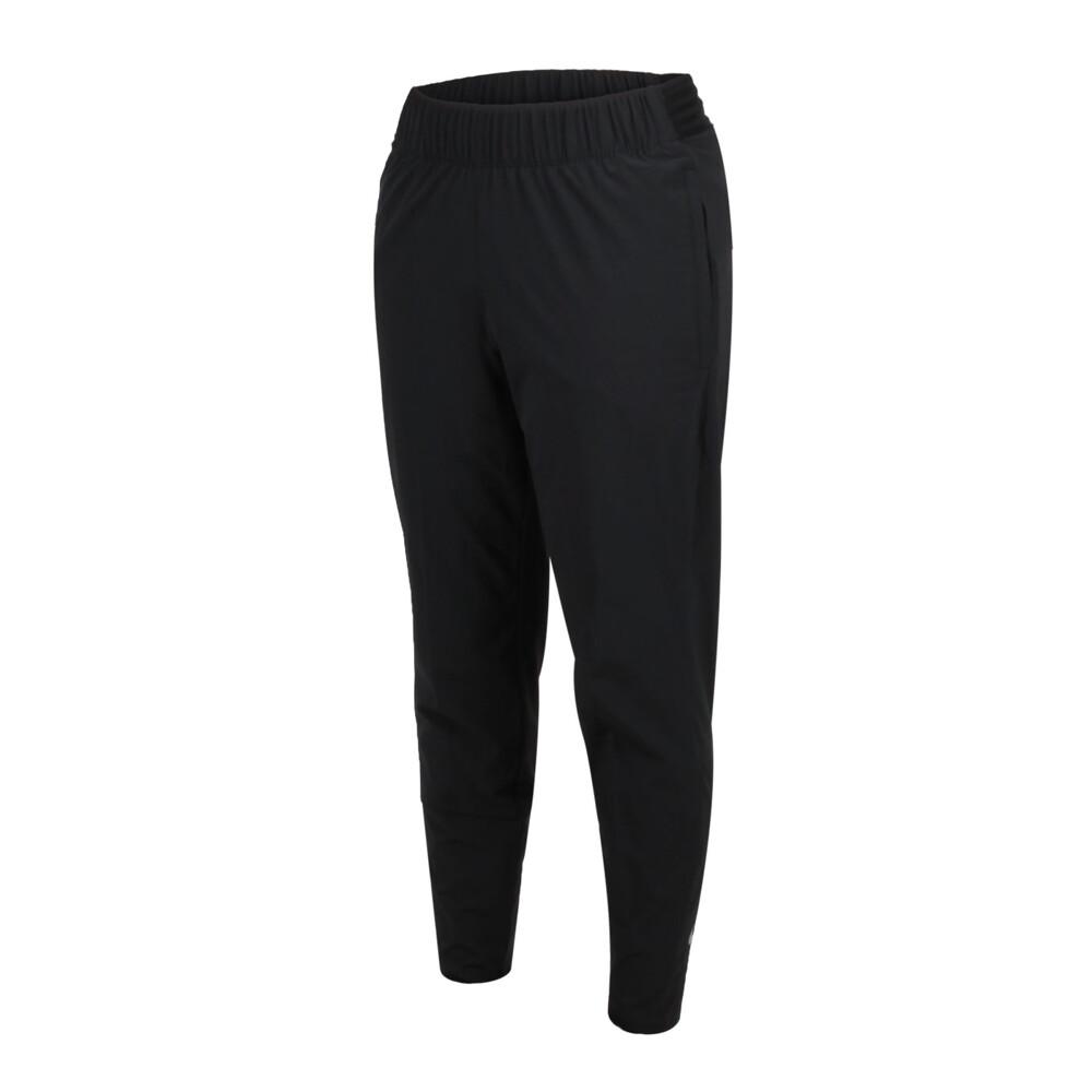 nike 女平織運動長褲-慢跑 單層 黑銀
