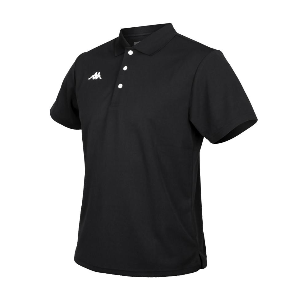 kappa 男k4t短袖polo衫-台灣製 慢跑 高爾夫 網球 吸濕排汗 上衣 黑白