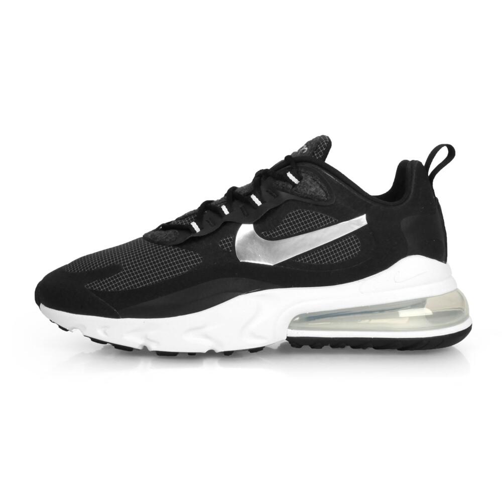 nike air max 270 react男休閒運動鞋-氣墊 慢跑 輕量 銀勾 黑灰銀