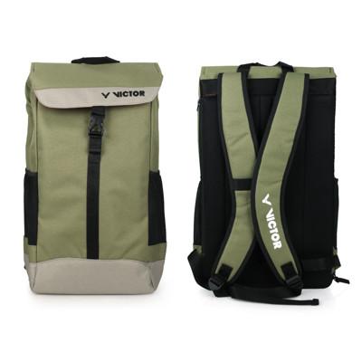 VICTOR 大型後背包-雙肩包 裝備袋 羽球 勝利 軍綠黑 (7.2折)