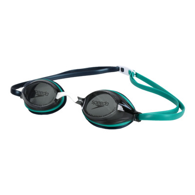 SPEEDO 成人競技泳鏡-抗UV 防霧 蛙鏡 游泳 戲水 訓練 綠黑 (9.3折)