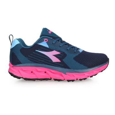 DIADORA 女戶外登山鞋-野趣 越野 慢跑 藍綠桃紅 (8.9折)