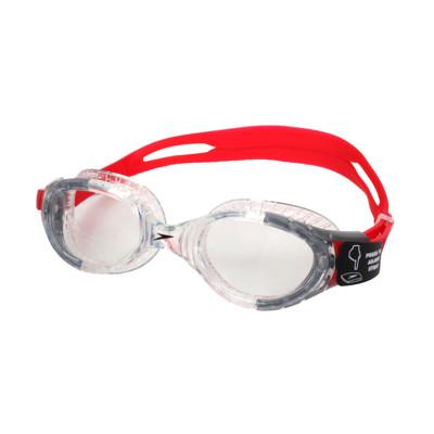 SPEEDO FUTURA BIOFUSE 成人運動泳鏡-抗UV 蛙鏡 游泳 透明紅黑 (9.2折)