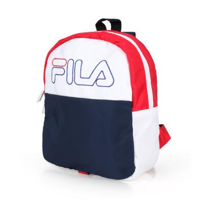FILA 兒童後背包-肩背包 雙肩包 丈青白紅 (9.1折)