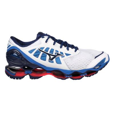 MIZUNO WAVE PROPHECY 9 男慢跑鞋-美津濃 白藍丈青紅 (8.4折)