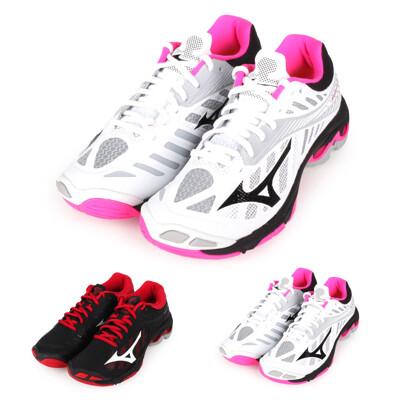 MIZUNO WAVE LIGHTNING Z4 女排球鞋-美津濃 白粉灰黑 (5.9折)