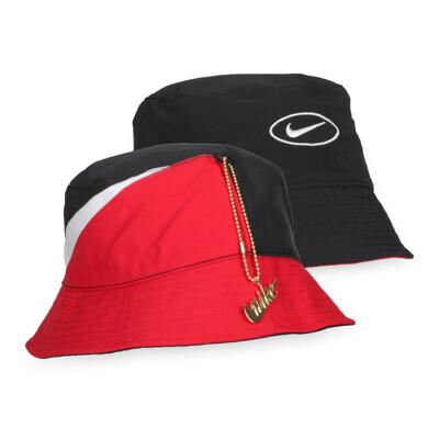 NIKE 漁夫帽-遮陽 帽子 防曬 紅黑白 (9折)