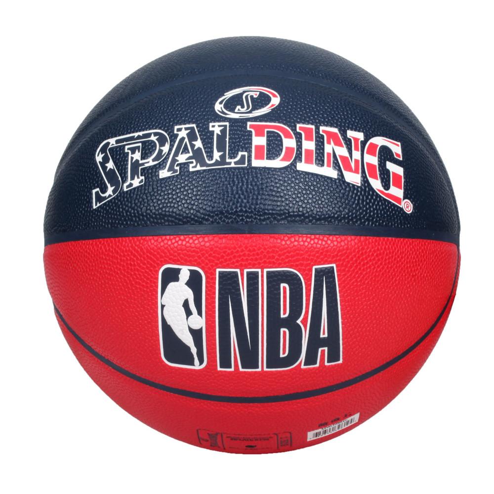 spalding nba #7號合成皮籃球-室內 室外 戶外 運動 7號球 斯伯丁 丈青紅白