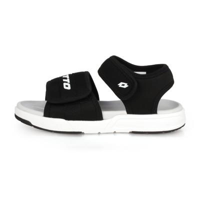 LOTTO 男女中童輕量運動涼鞋-海邊 海灘 戲水 魔鬼氈 黑白 (9.1折)