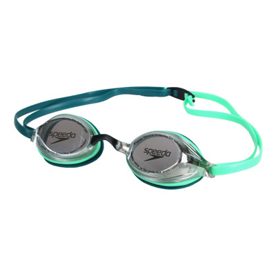 SPEEDO 成人競技泳鏡-抗UV 防霧 蛙鏡 游泳 戲水 訓練 綠藍 (9.2折)