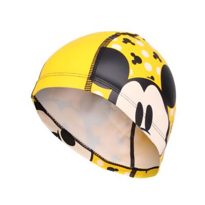 SPEEDO 兒童合成泳帽PACE-米奇-游泳 戲水 海邊 沙灘 黃黑 (10折)