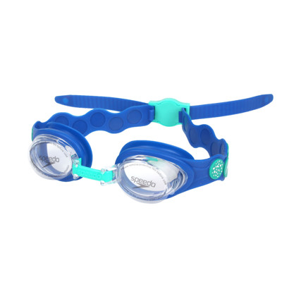 SPEEDO 幼童運動泳鏡-小鱷魚-游泳 戲水 海邊 蛙鏡 藍綠 (10折)