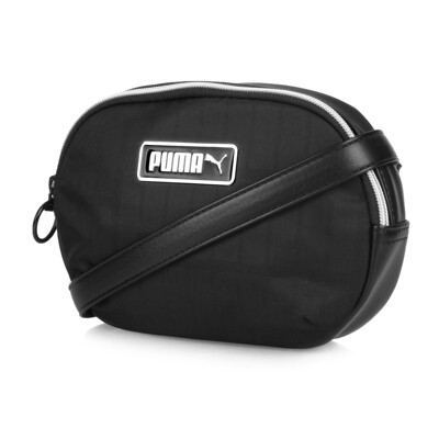 PUMA WMN PRIME側背包-斜背包 肩背包 黑銀 (8.5折)