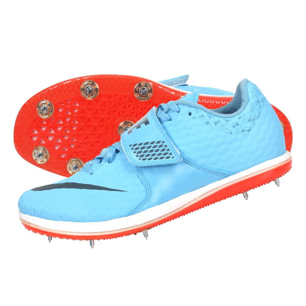 nike high jump elite 男田徑釘鞋-跳高-訓練 水藍黑