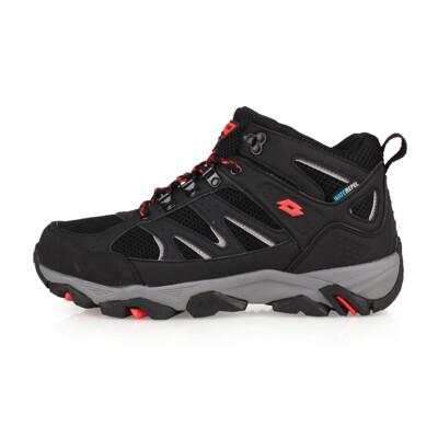 LOTTO 男防水戶外越野鞋-慢跑 登山 走路鞋 健行 黑灰紅 (8.8折)