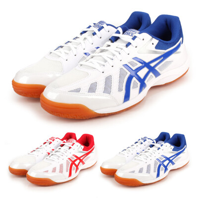 ASICS ATTACK HYPERBEAT SP 3 男女桌球鞋-乒乓球 白紅 (8.4折)
