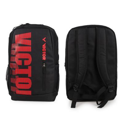 VICTOR 後背包-雙肩包 裝備袋 羽球 勝利 黑紅 (7.6折)