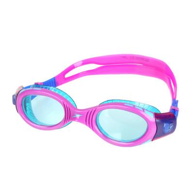 SPEEDO 兒童運動泳鏡-抗UV 防霧 蛙鏡 游泳 訓練 紫湖水綠 (9.4折)