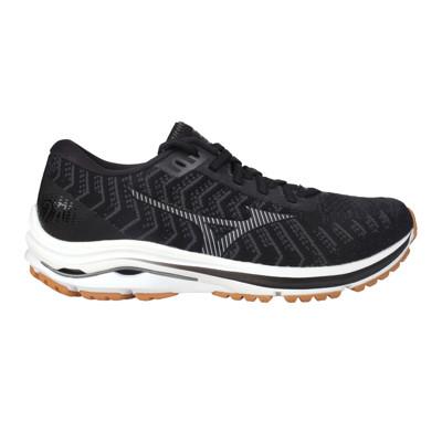 MIZUNO WAVE RIDER 24 WAVEKNIT女慢跑鞋-3E-寬楦 麻花黑灰 (8.4折)